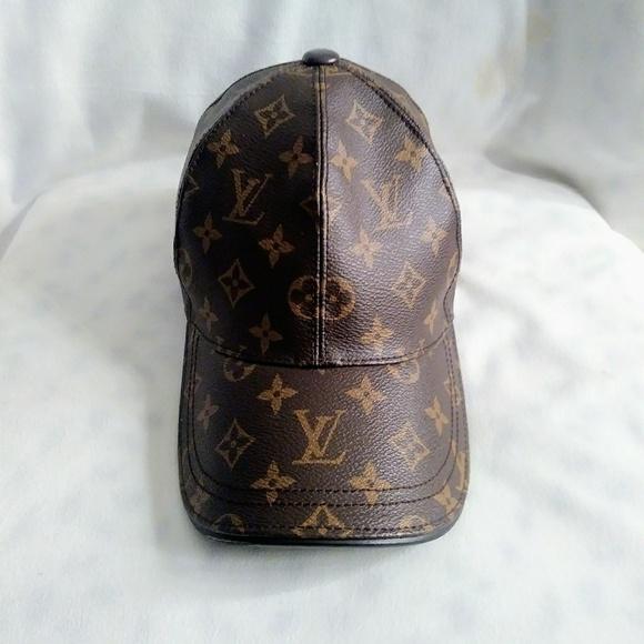 57fa972a288 Louis Vuitton Accessories - Leather Authentic Louis Vuitton adjustable cap