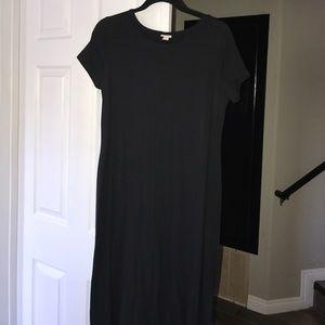 Merona black t shirt Maxi dress