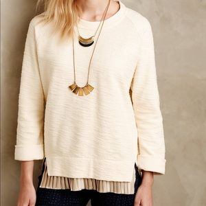 Anthropologie Pleated Sweater - Size M