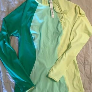Lululemon Swim shirt, size 8