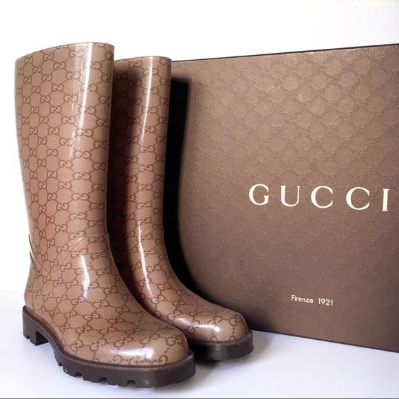 5d928704b4f Gucci Shoes - GUCCI Guccissima Rain Boots