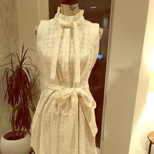 See by Chloe eyelet lace shirt dress