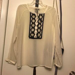 Zara  silk, chiffon look alike blouse real silk