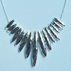 Gorjana Silver Fan Necklace NWT