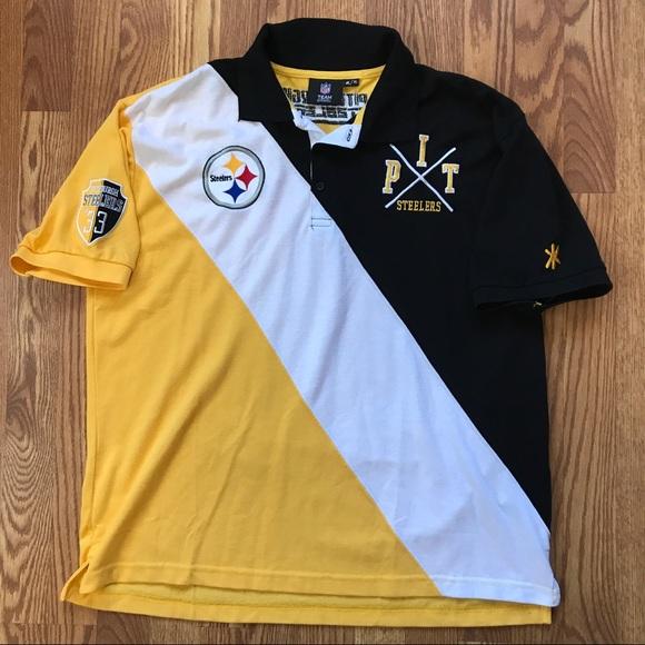 1efca8f51 NFL Apparel Klew Pittsburgh Steelers polo. M 59e298c5c284568f78039b05