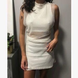 Unif peekaboo mesh mini dress