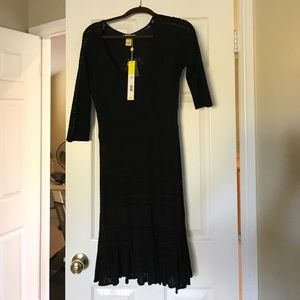 Black knit Catherine Malandrino dress