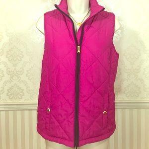 Ralph Lauren Bright Pink Quilted Vest