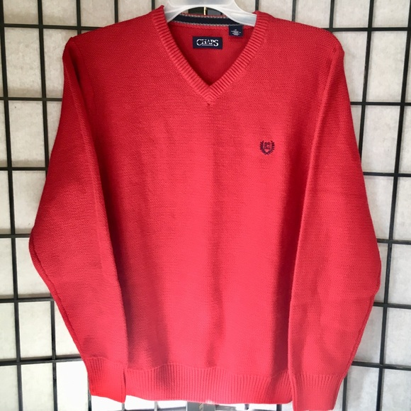 99% off Chaps Other - CHAPS Ralph Lauren Men's V-Neck Red Sweater ...