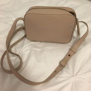 Beige J Crew leather crossbody