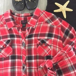 Torrid Plaid Flannel Shirt
