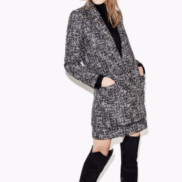 249dd5b1b KOOPLES OVERSIZED TWEED JACKET WITH JEWELED BUTTON.  M_59e56c4bc6c795e6830245d6
