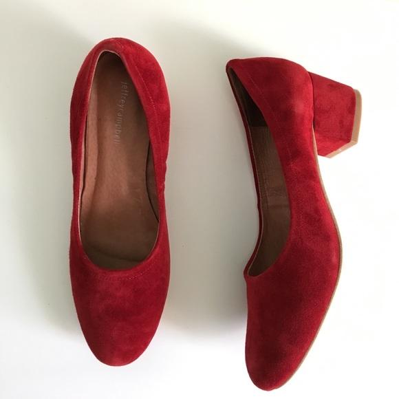 1c460ca35f2 Jeffrey Campbell red suede Bitsie heels size 9