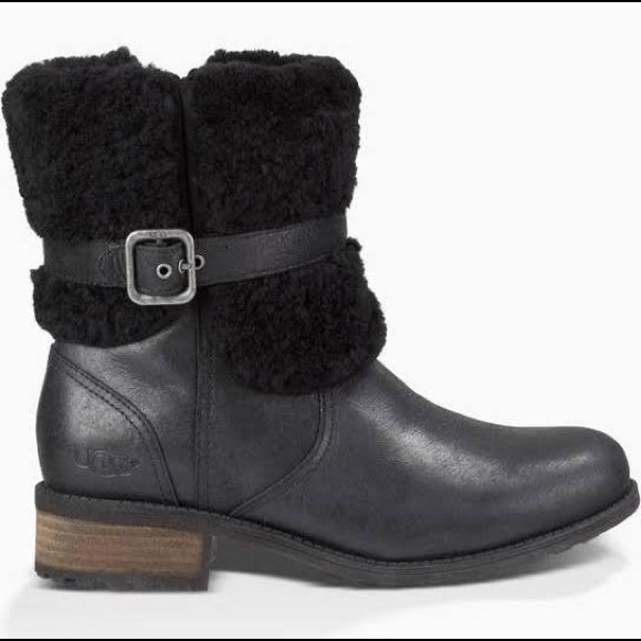5fda7fa2abc 💥🆕💥UGG Blayre II Women's Leather Boots in Black NWT