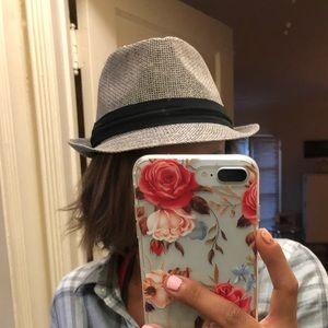 Grey hat with black trim!