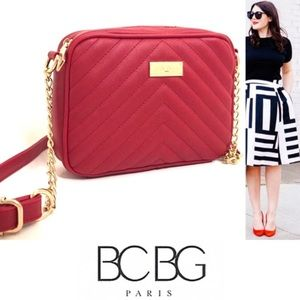 BCBG Quilted Crossbody in Scarlet