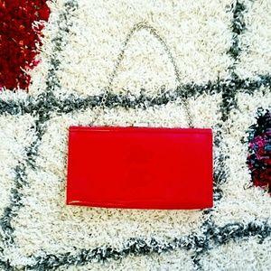 Red Shiny Clutch Purse