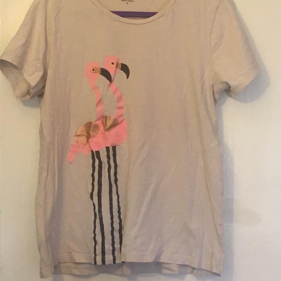 f4651c0b J. Crew Tops   J Crew Collector Flamingo Tshirt   Poshmark