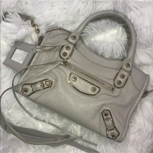 Balenciaga Edge City Mini Leather Satchel Bag