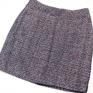 LOFT Colorful Tweed Straight Skirt.