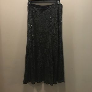 Zara sequin midi skirt