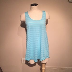Zella relaxed fit sky blue workout tank top