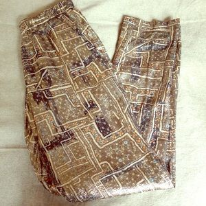 BNWOT Isabel Marant x H&M gold silk pants, size2