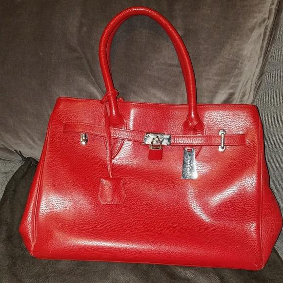 Jasper Conran Handbags - Jasper Conran Red Leather