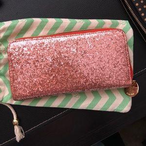 Deux Lux Glitter Zip Around Wallet