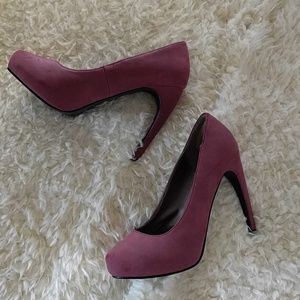 Dusty Rose curved heels