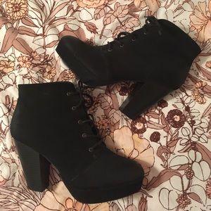 Black Suede Lita Boots.