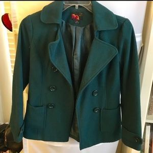 Teal blue warm peacoat