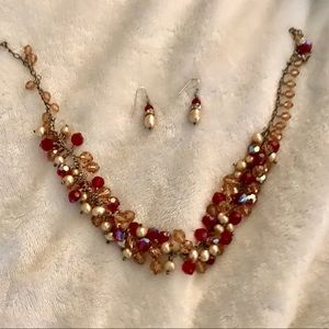 Jewelry - Starvaski crystal and pearl earrings/necklace