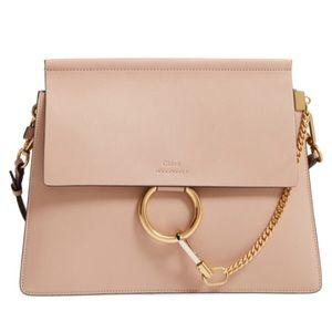Chloe Faye goatskin leather shoulder bag