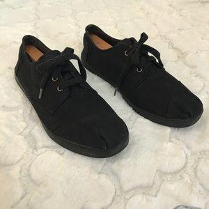 Canvas toms black shoes Laces 11