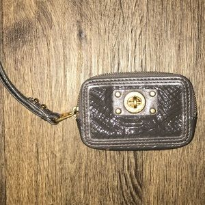 Marc Jacobs Faux Embossed Patent Leather Wristlet