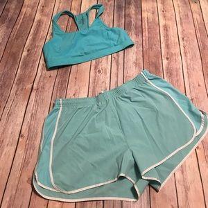 2️⃣/$15 {Lucy} Ice Blue Running Shorts
