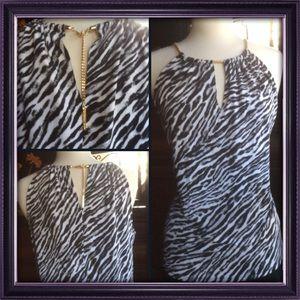 Zebra print top by Michael Kors