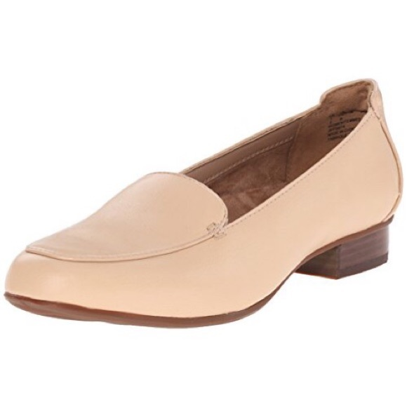 NWOB Clark's Keesha Luca Nude Leather Loafers