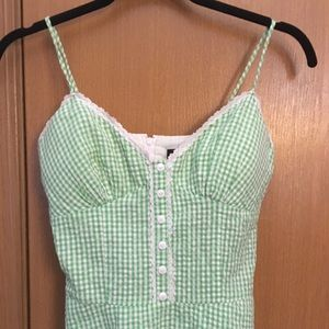Green Gingham Dress Size 3
