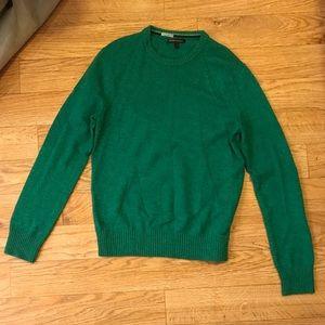 Banana Republic mens green wool sweater