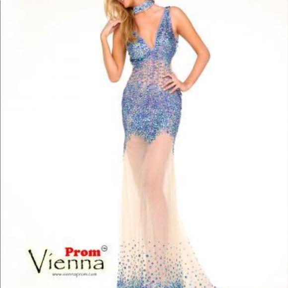 Vienna Prom Dresses | Nwt Dress With Matching Choker | Poshmark