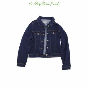 TRACTR GIRL'S FRONT POCKET BASIC JEANS JACKET