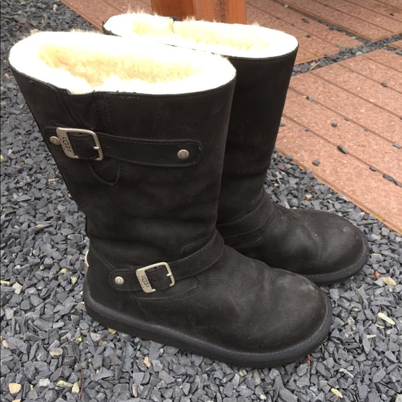 0cb65ed7fb0 Ugg Kensington Lined Moto Boots #5678 Worn Once