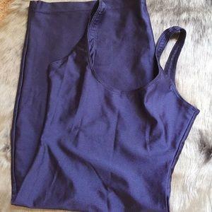 NWT American Apparel nylon tricot scoop back dress