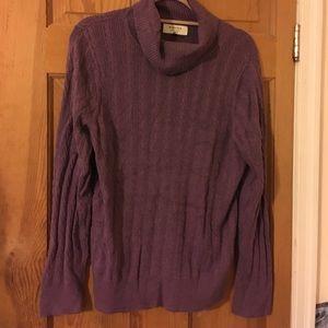 Sonoma plum cowl neck sweater 1x