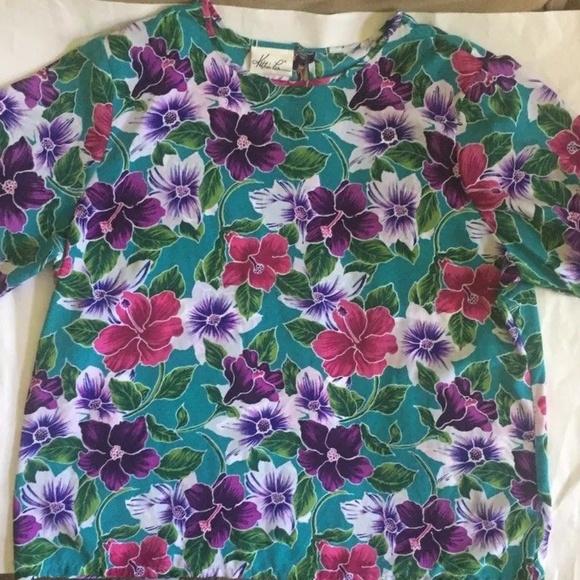 Vintage Kathie Lee Plus Floral Blouse