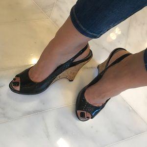 Via Spiga Size 9 Black Patent Shoes