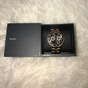 Marc jacobs watch. Gold and black.