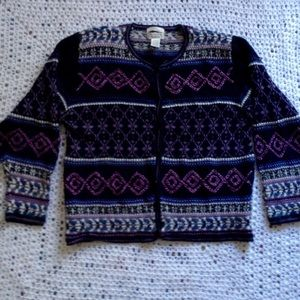 EUC hand embroidered sweater Christopher & Banks